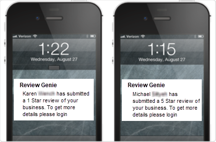 SMS Review Alerts
